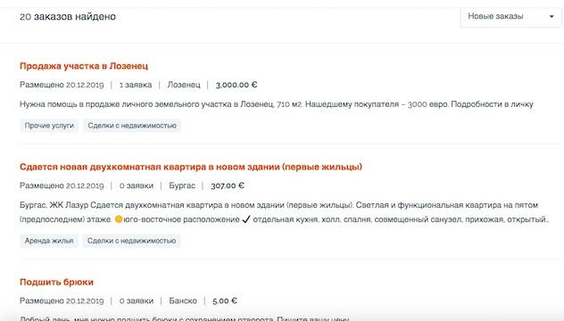 работа в Болгарии на Moneedo.com
