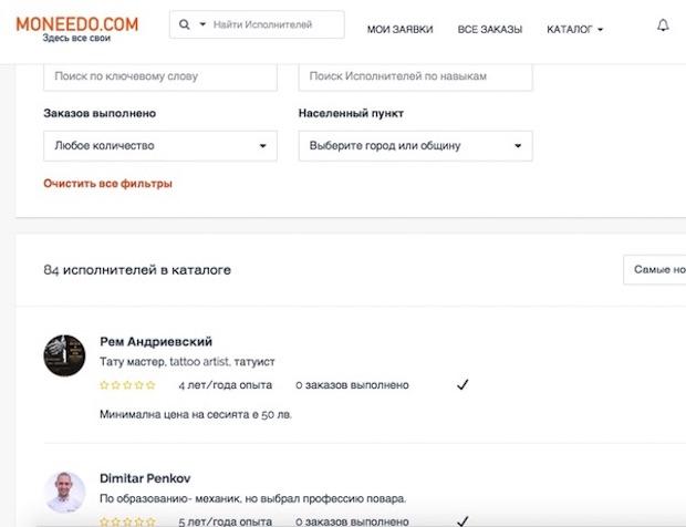 исполнители moneedo.com